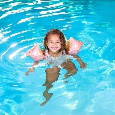 The Swim Essentials - Rękawki do Pływania 2-6 lat Pastelowa Zebra