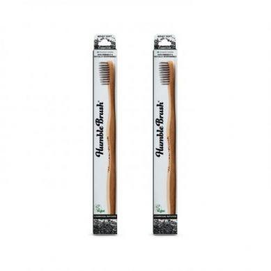 Humble Brush - Bambusowa Szczoteczka do Zębów dla Dorosłych z Włóknem Węglowym Charcoal
