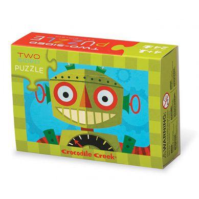 Crocodile Creek - Dwustronne Puzzle Roboty
