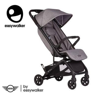 Easywalker - MINI by Easywalker Buggy GO Kompaktowy wózek spacerowy ze zintegrowaną torbą transportową Soho Grey