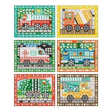 Petit Collage - Mozaika Wyklejanka Pojazdy