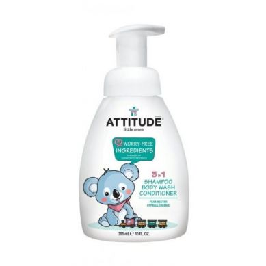Attitude - 3 w 1 dla Dzieci, Płyn do Mycia, Szampon, Odżywka Gruszkowy Nektar 300 ml