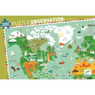 Djeco Puzzle Obserwacyjne Budowle Świata 200 elementów