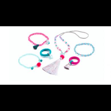 Djeco - Zestaw Biżuterii Pompony I Motyle