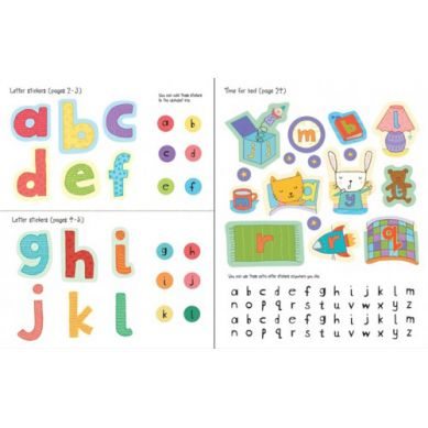 Wydawnictwo Usborne Publishing - Alphabet Sticker Book (Get Ready For School)