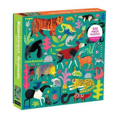 Mudpuppy - Puzzle Rodzinne Zwierzęta z Lasu Deszczowego 500el 8+