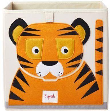3 Sprouts - Pudełko na Zabawki Tygrys Orange