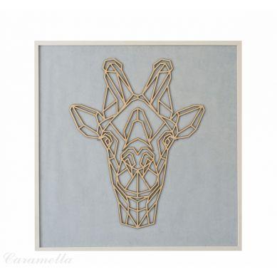 Caramella - Obraz Błękitny z Żyrafą