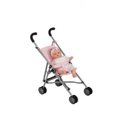 Barrutoys - Wózek Spacerówka Różowy w Białe Gwiazdki