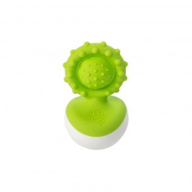 Fat Brain Toys - Bąbelki Dimpl Gryzak Wańka Wstańka Zielony