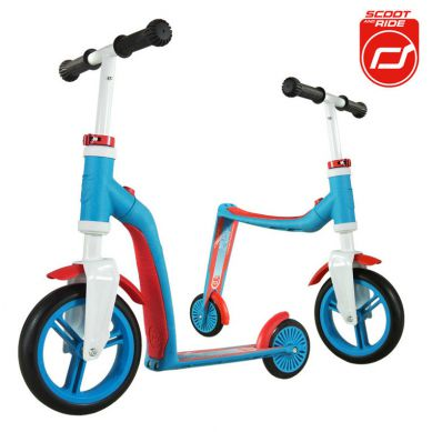 Scootandride - Highwaybaby 2w1 Hulajnoga i Rowerek Blue 1+
