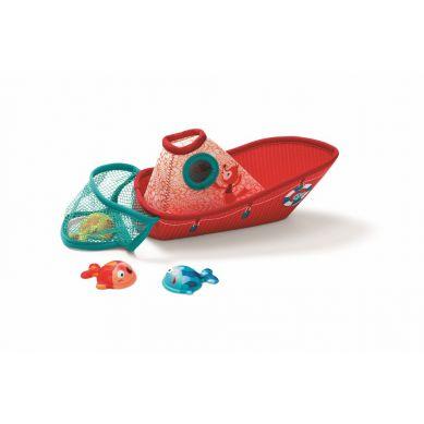 Lilliputiens - Zabawka do Wody Łódka z Neopranu z Rybkami