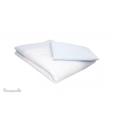 Caramella - Pościel Niemowlęca Błękitna w Krateczkę