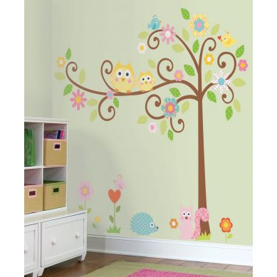 RoomMates - Naklejki Ścienne Wielokrotnego Użytku Kwitnące Drzewo