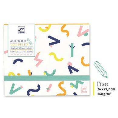 Djeco - Papier do Rysowania Arty Block