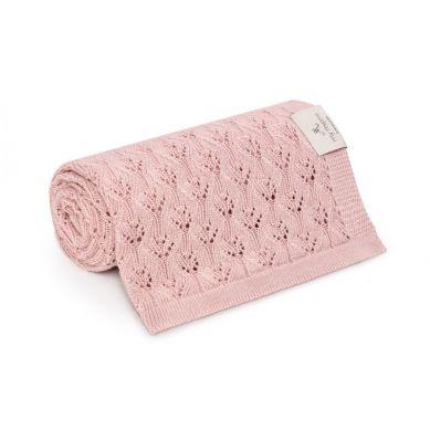 My Memi - Ażurowy Kocyk Bambusowy 80x100 Powder Pink