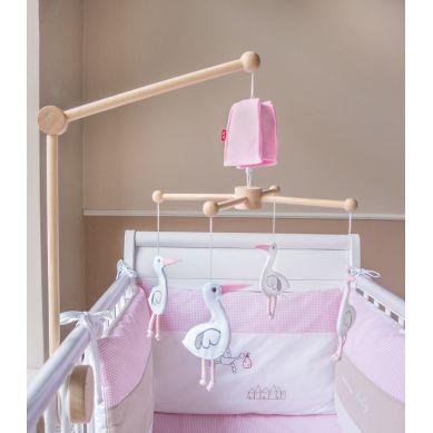 Muzpony - Karuzela do Łóżeczka z Obrotową Pozytywką Baby Pink
