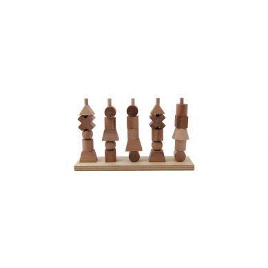 Wooden Story - Układanka Naturalna Płotek