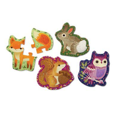 Mudpuppy - Sensoryczne Puzzle Zwierzęta w Lesie