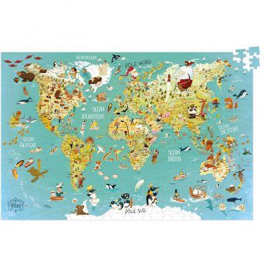 Vilac - Puzzle Mapa Świata 500el.