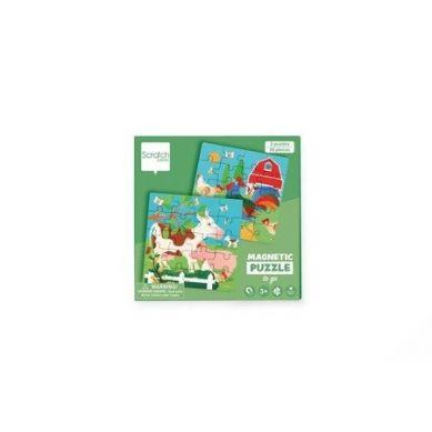 Scratch - Podróżne Puzzle Magnetyczne Farma 40 elem. 3+