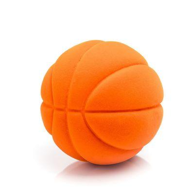 Rubbabu - Duża Piłka Sensoryczna z Mocną Fakturą Koszykówka Pomarańczowa