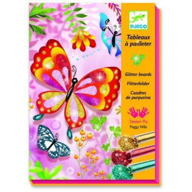 Djeco - Zestaw Artystyczny z Brokatem Motyle
