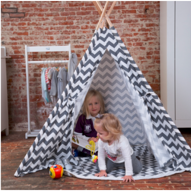 Childhome  - Drewniany Namiot Tipi Zigzag