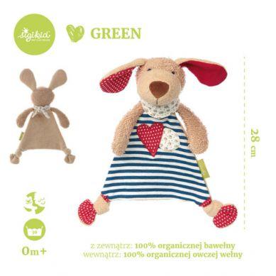 Sigikid - Przytulaczek – komforter Piesek Kolekcja Ekologiczna Green