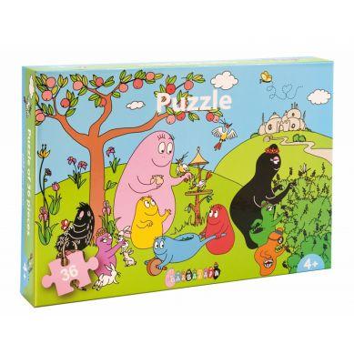 Petit Jour Paris - Puzzle 36 Elementów Barbapapa i Zwierzęta