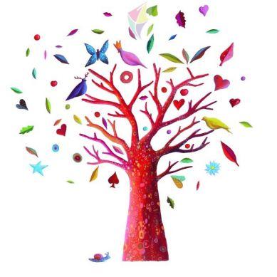 Djeco - Naklejki Ścienne Drzewo