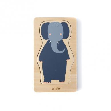 Trixie - Drewniane 4-warstwowe Puzzle Animals