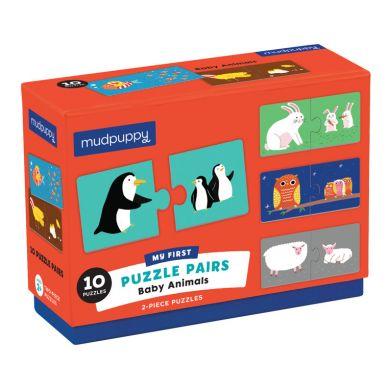 Mudpuppy - Dwuczęściowe Puzzle Zwierzęta i Ich Dzieci 10 Par