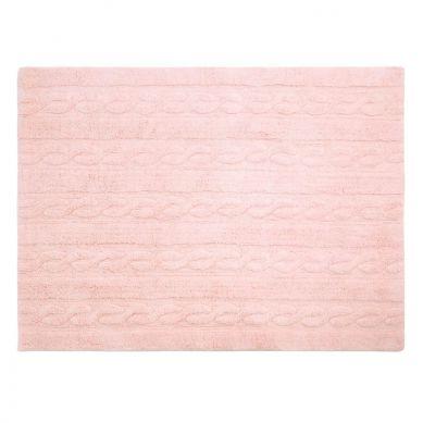 Lorena Canals - Dywan do Prania w Pralce Trenzas Soft Pink 80x120