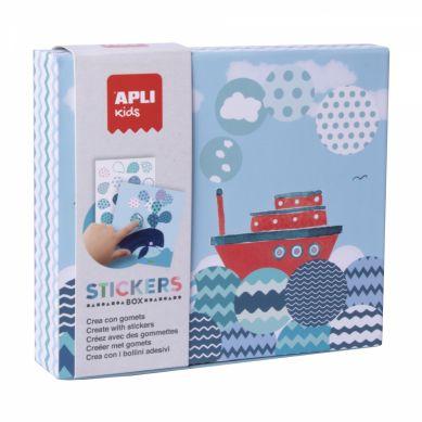 Apli Kids - Zestaw z Naklejkami Statek 3+