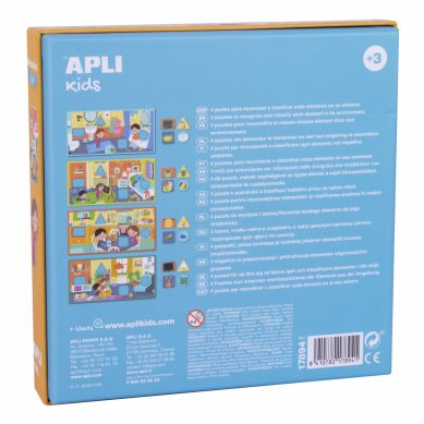 Apli Kids - Puzzle 4 Układanki W Domu 3+