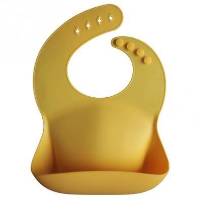 Mushie - Śliniak Silikonowy Mineral Yellow