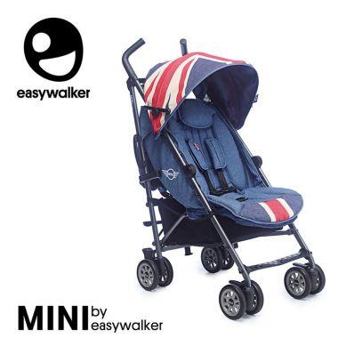 MINI by Easywalker - Wózek Spacerowy z Osłonką Przeciwdeszczową 6,5kg Union Jack Vintage