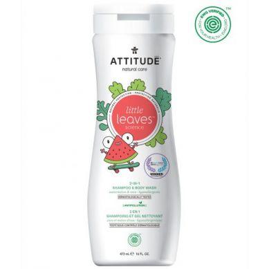 Attitude - Płyn do Mycia i Szampon 2w1 Arbuz i Kokos 473 ml