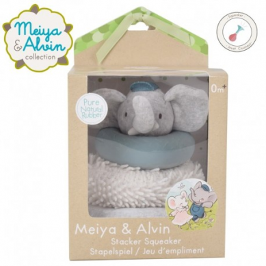 Meiya & Alvin - Alvin Elephant Stacker with Squicker and Teethers