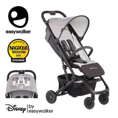 Easywalke - Disney Buggy XS Wózek spacerowy z osłonką przeciwdeszczową Mickey Shiel