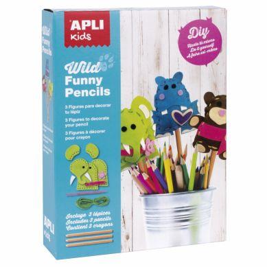 Apli Kids - Zestaw Artystyczny do Szycia Dzikie Zwierzęta