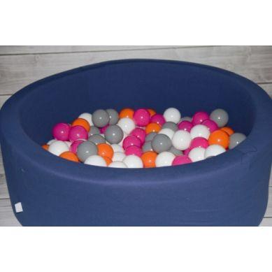 Misioo - Suchy Basen z 200 Piłeczkami 40 cm Granatowy + 200 Dodatkowych Piłek