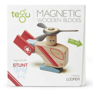 Tegu - Drewniane Klocki Magnetyczne Stunt Team Looper