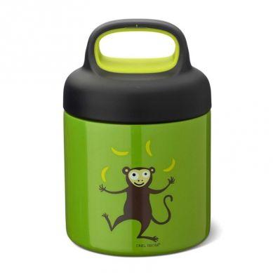Carl Oscar -  Temp Lunch Jar Termos ze Szlachetnej Stali Nierdzewnej Lime Monkey