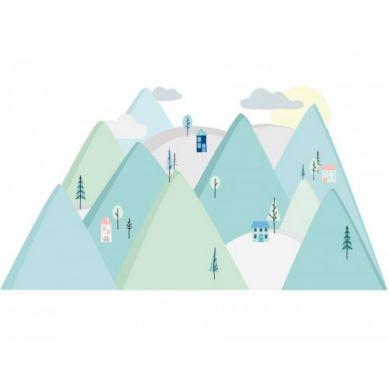 Pastelowelove - Naklejka na Ścianę Góry Miętowe S 150x75 cm