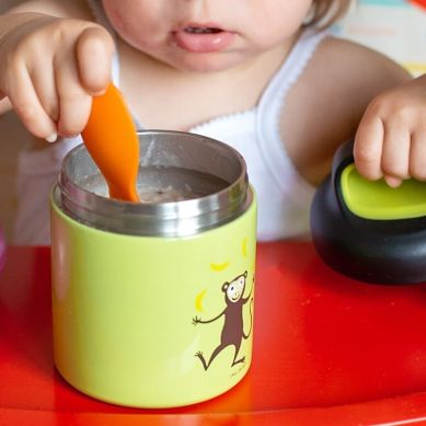 Carl Oscar -  Temp Lunch Jar Termos ze Szlachetnej Stali Nierdzewnej Grey Spider