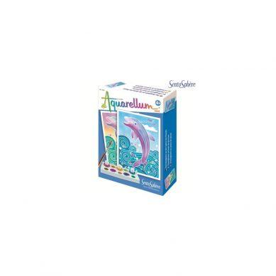 Sentosphere - Aquarellum Mini Delfiny 2 Obrazy i Farby 4+