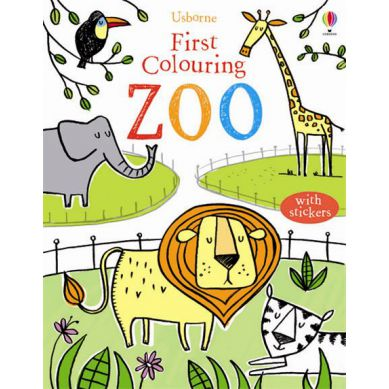 Wydawnictwo Usborne Publishing - First Colouring Book ZOO