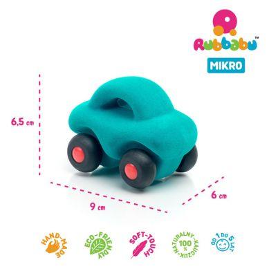 Rubbabu - Samochód Sensoryczny Turkusowy Mikro